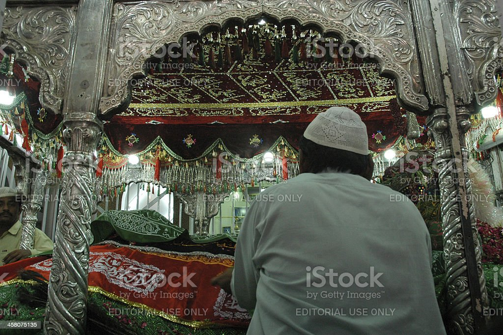 Shrine of Hazrat Lal Shahbaz Qalandar (R.A) stock photo
