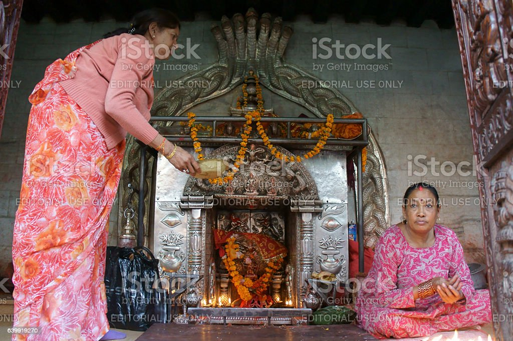 shrine of Hiranyavarna Mahavihara (golden temple) stock photo