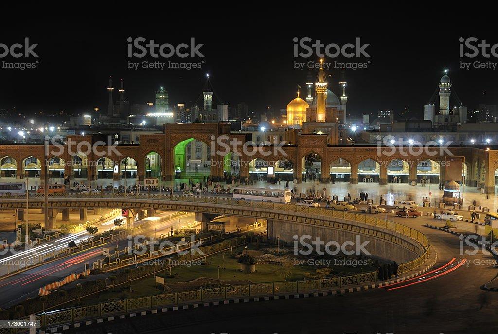 Shrine of Imam Ali Ridha in Mashhad, Iran royalty-free stock photo