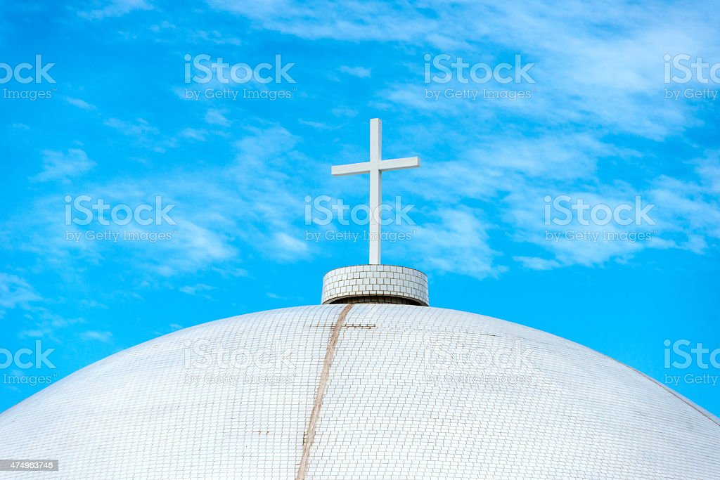 Shrine of Our Lady of Mercy stock photo