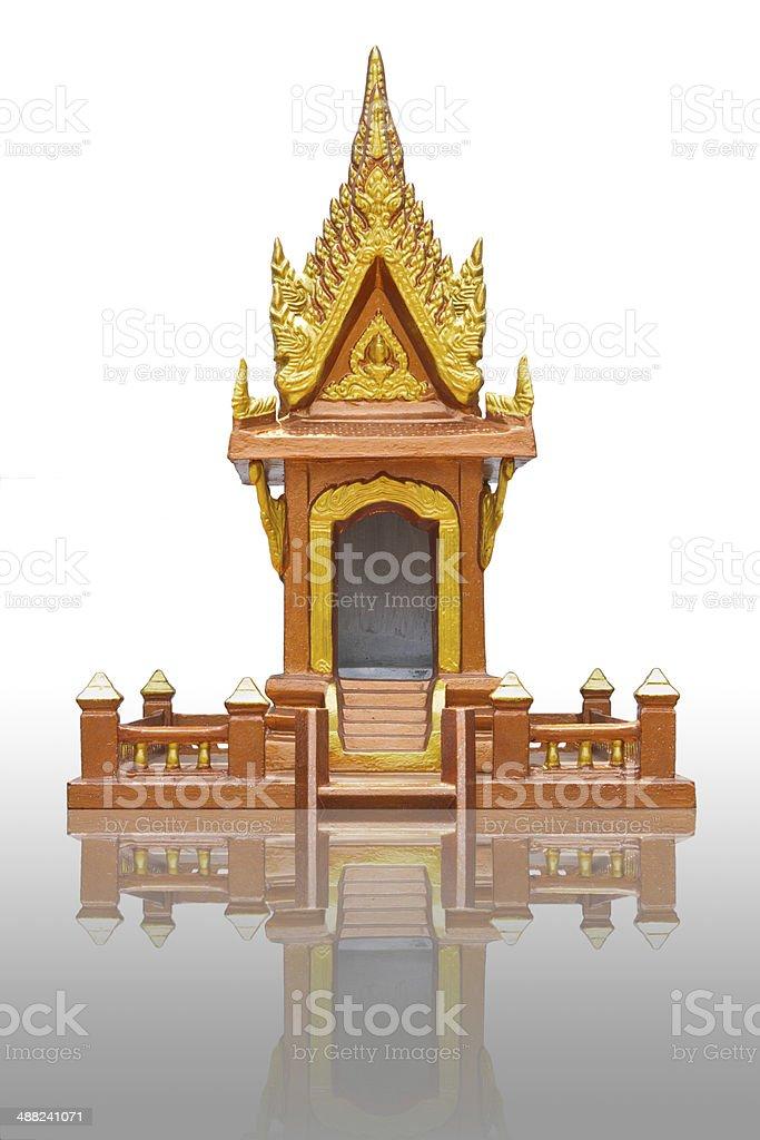 shrine of the household god stock photo
