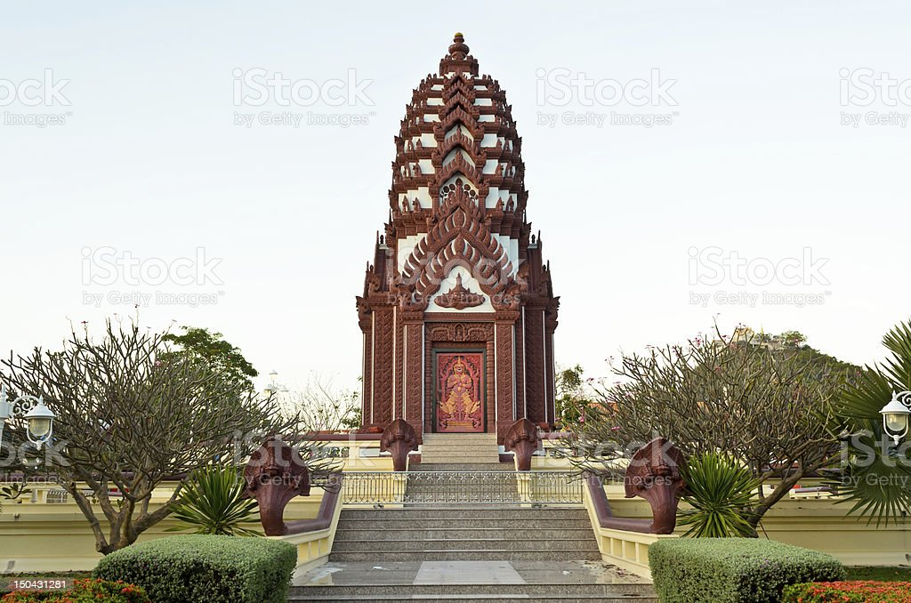 Shrine. public areas for worship and relax of the city. stock photo