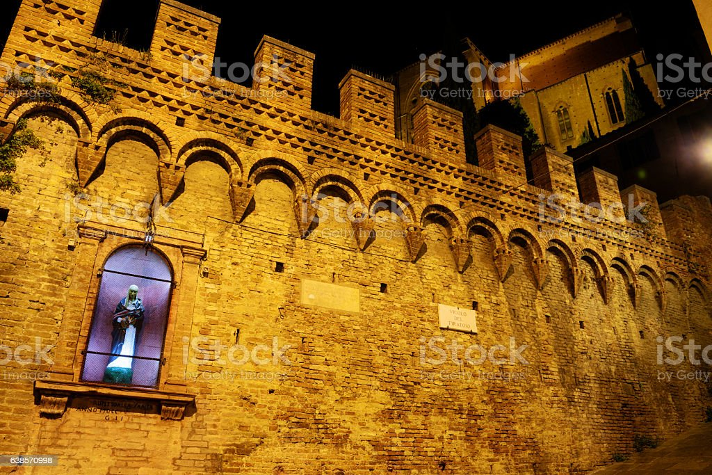 Shrine to Saint Catherine, Siena, Italy stock photo
