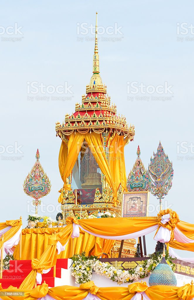 Shrine with Buddha relic in Thailand royalty-free stock photo