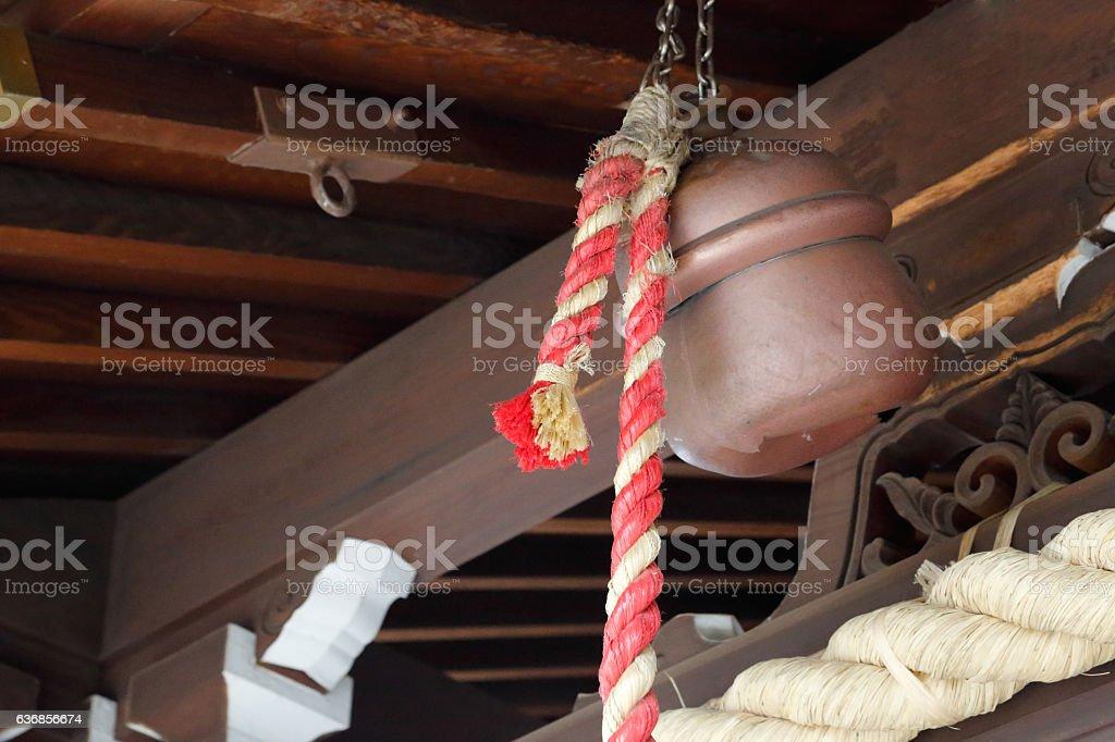 Shrine's bell stock photo
