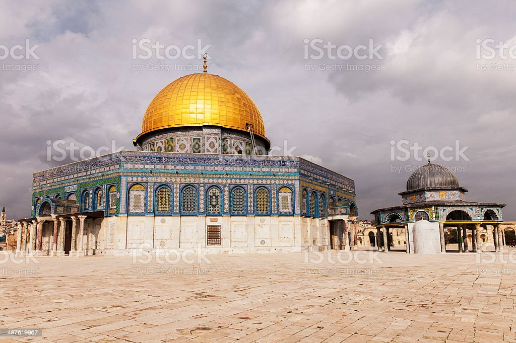 Shrines On Temple Mount stock photo