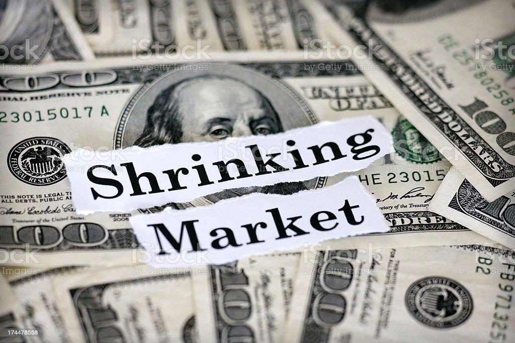 shrinking market stock photo