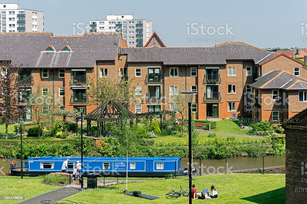 Shropshire Union Canal Chester stock photo