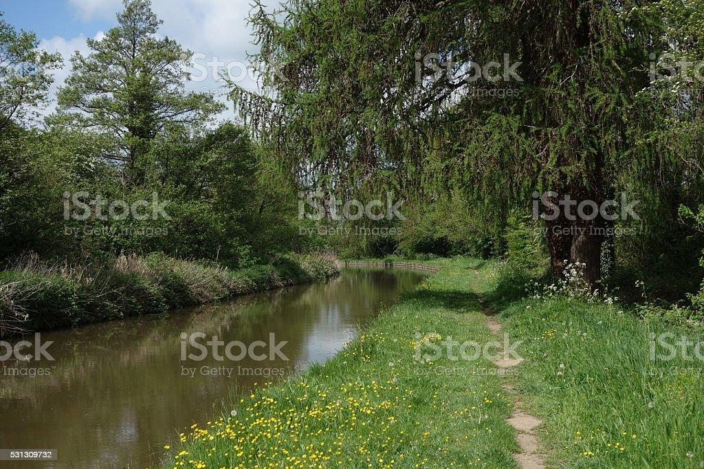 Shropshire union canal stock photo