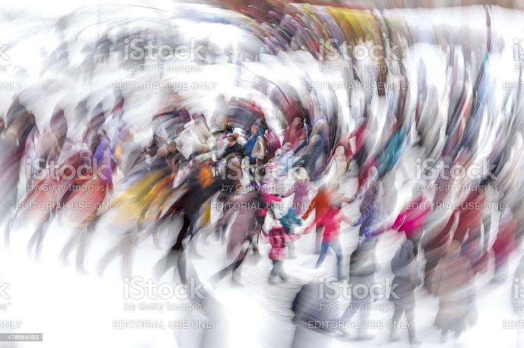Shrovetide celebration stock photo