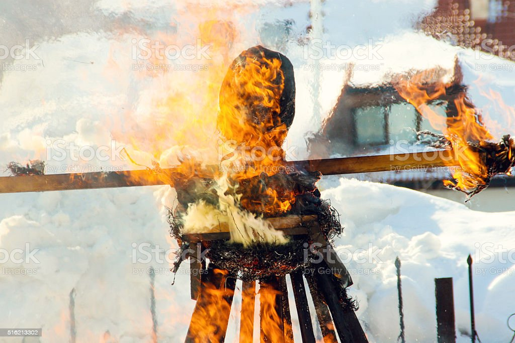 Shrovetide, Russian Maslenitsa stock photo