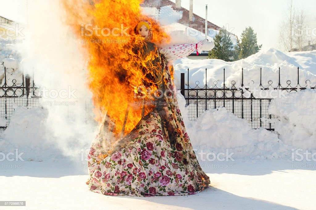 Shrovetide, Russian Maslenitsa stock photo