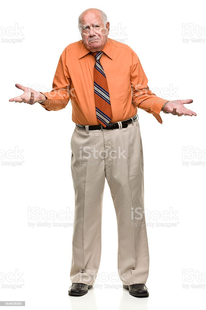 Shrugging Senior Man royalty-free stock photo