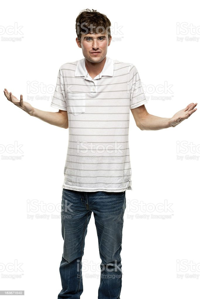 Shrugging Young Man royalty-free stock photo