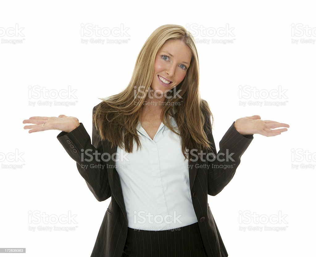 Shrugs royalty-free stock photo