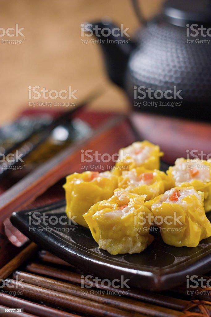 Shu Mai Dumplings stock photo
