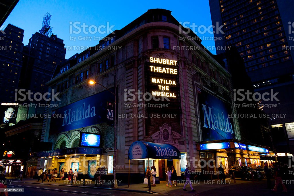 Shubert Theatre New York City stock photo