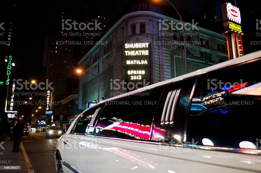 Shubert Theatre - New York, Time Square. royalty-free stock photo
