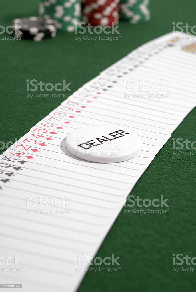 Shuffle Up and Deal royalty-free stock photo