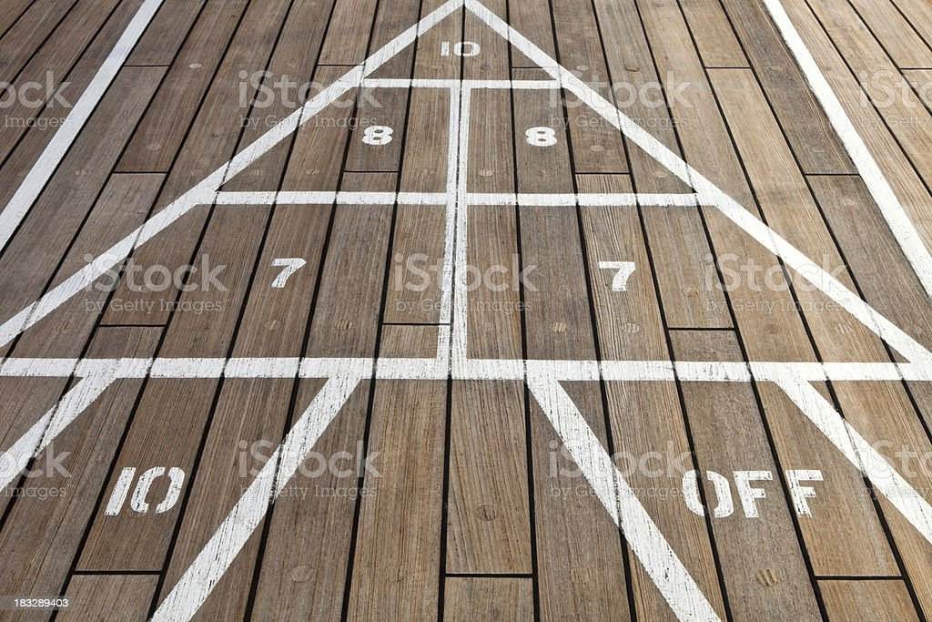 Shuffleboard royalty-free stock photo