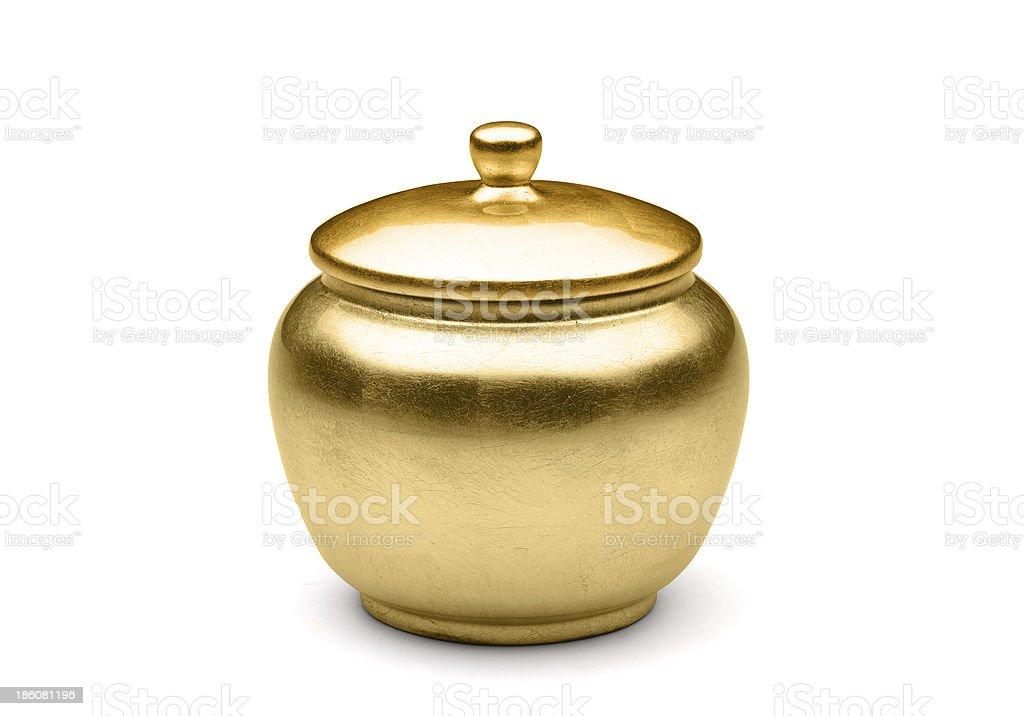 shugar pot isolated on the white background stock photo