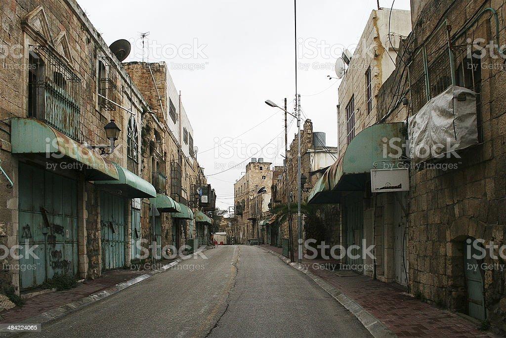 Shuhada Street. Hebron. royalty-free stock photo