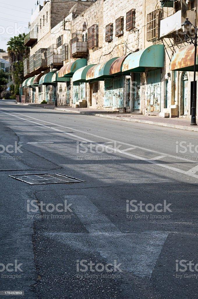 Shuhada Street in Hebron stock photo