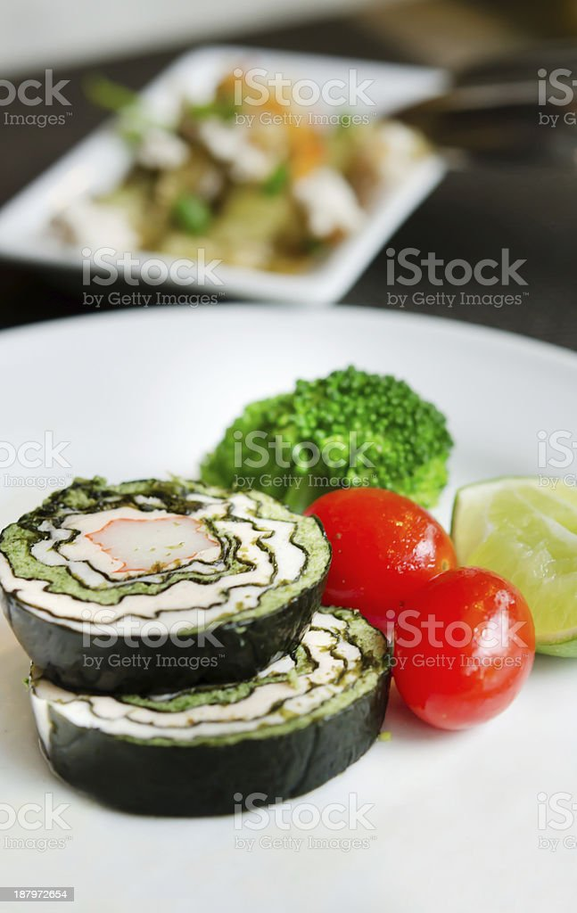 shuhi and vegetable royalty-free stock photo