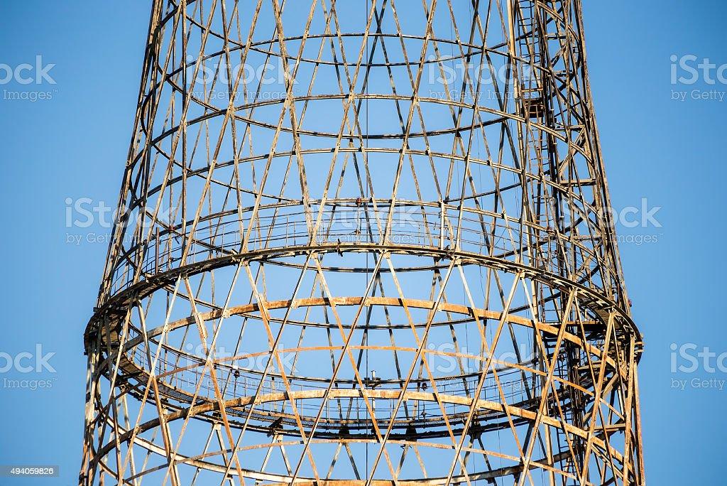 Shukhov tower stock photo