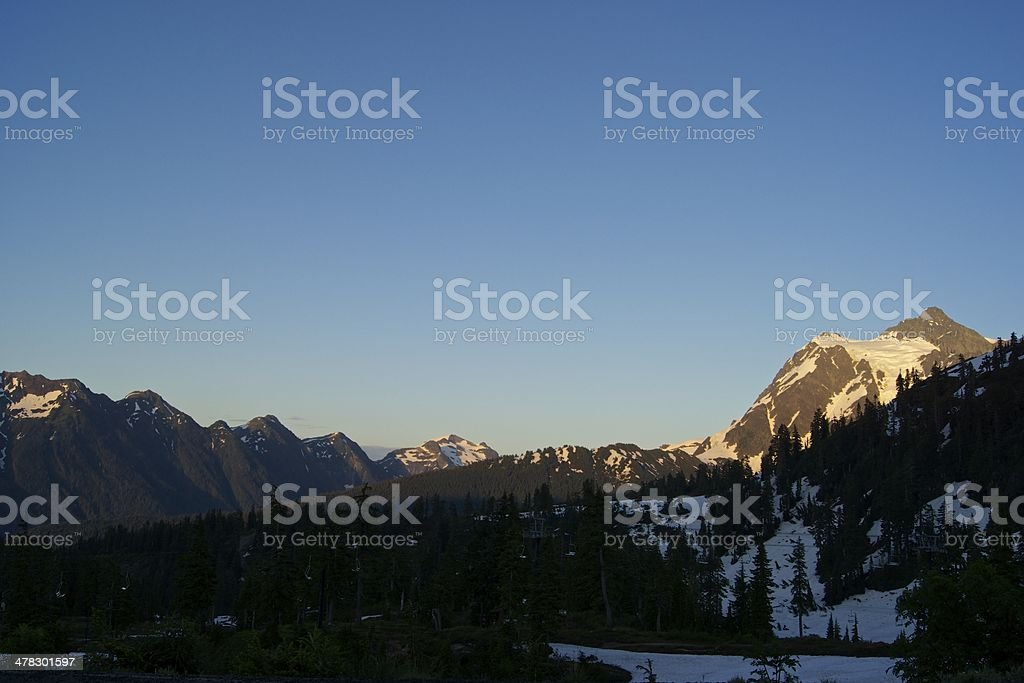 Shuksan Summer Sunset royalty-free stock photo