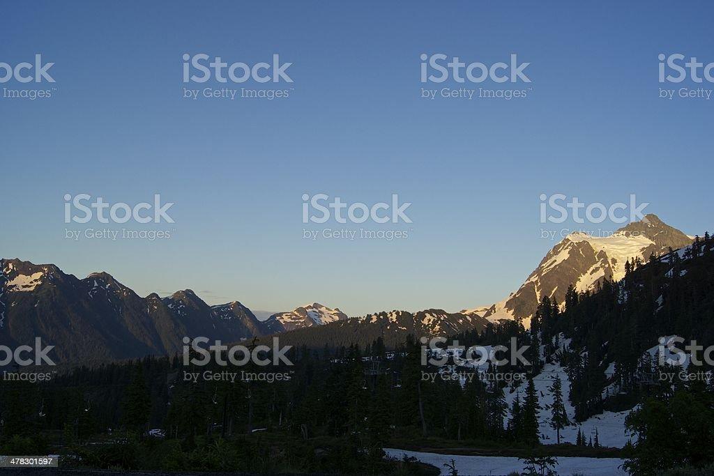 Shuksan Summer Sunset stock photo