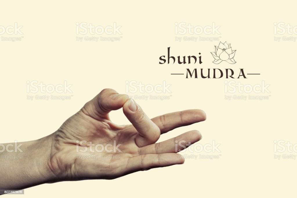 Shuni mudra. stock photo