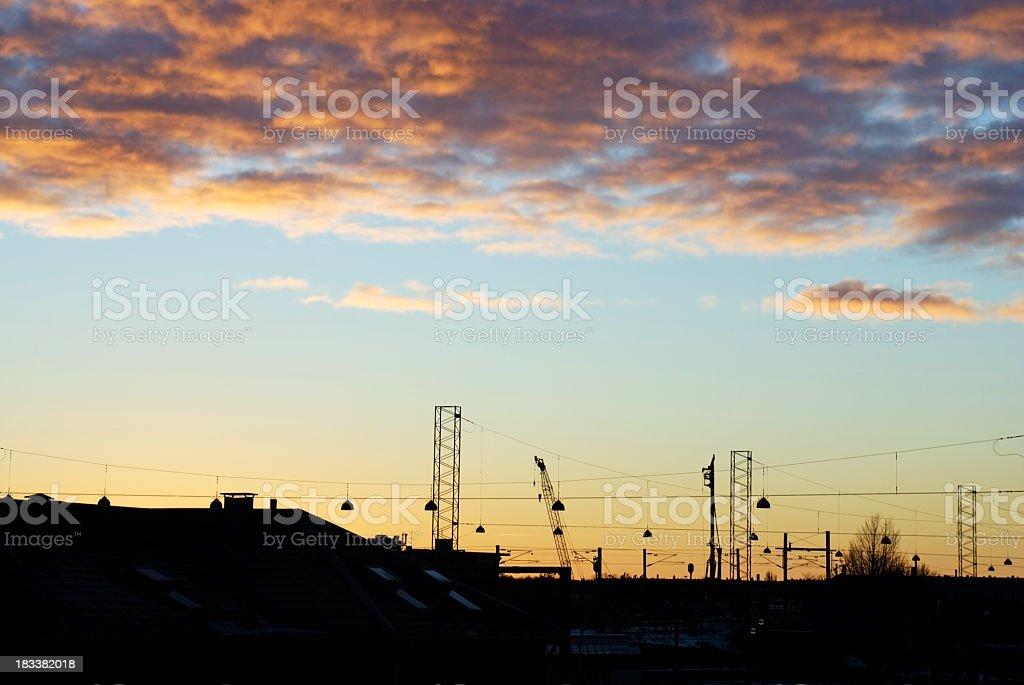 Shunting at sunset stock photo