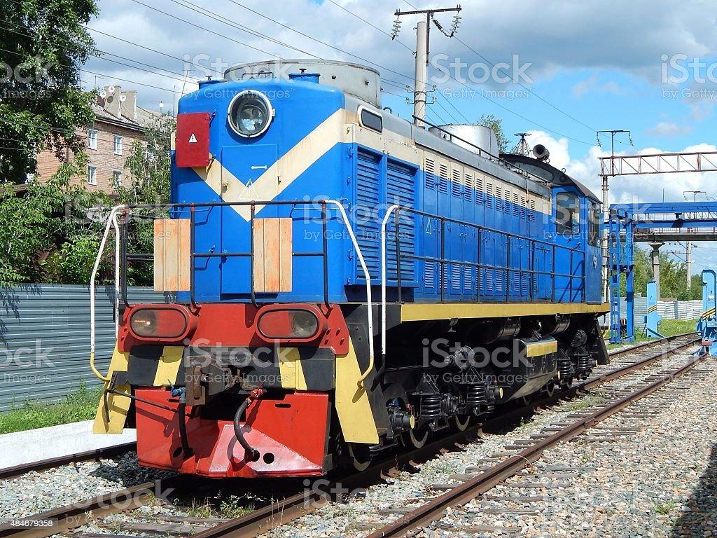shunting diesel locomotive stock photo