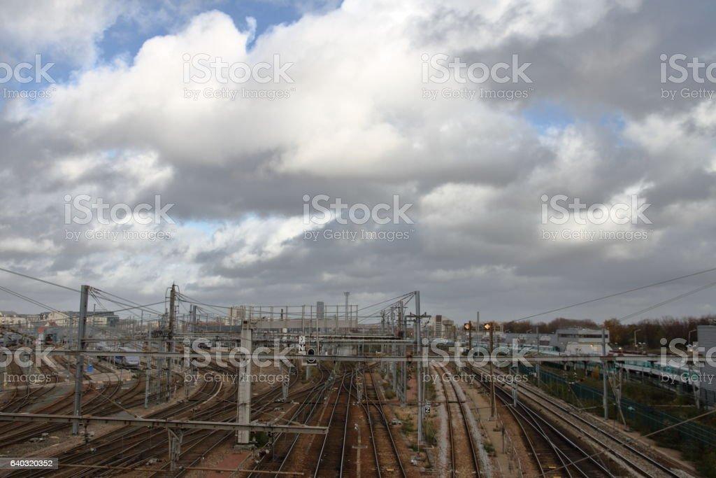 Shunting Yard stock photo