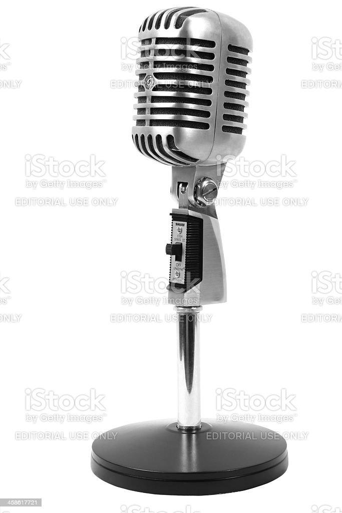 Shure 55 SH Series II Microphone on White stock photo