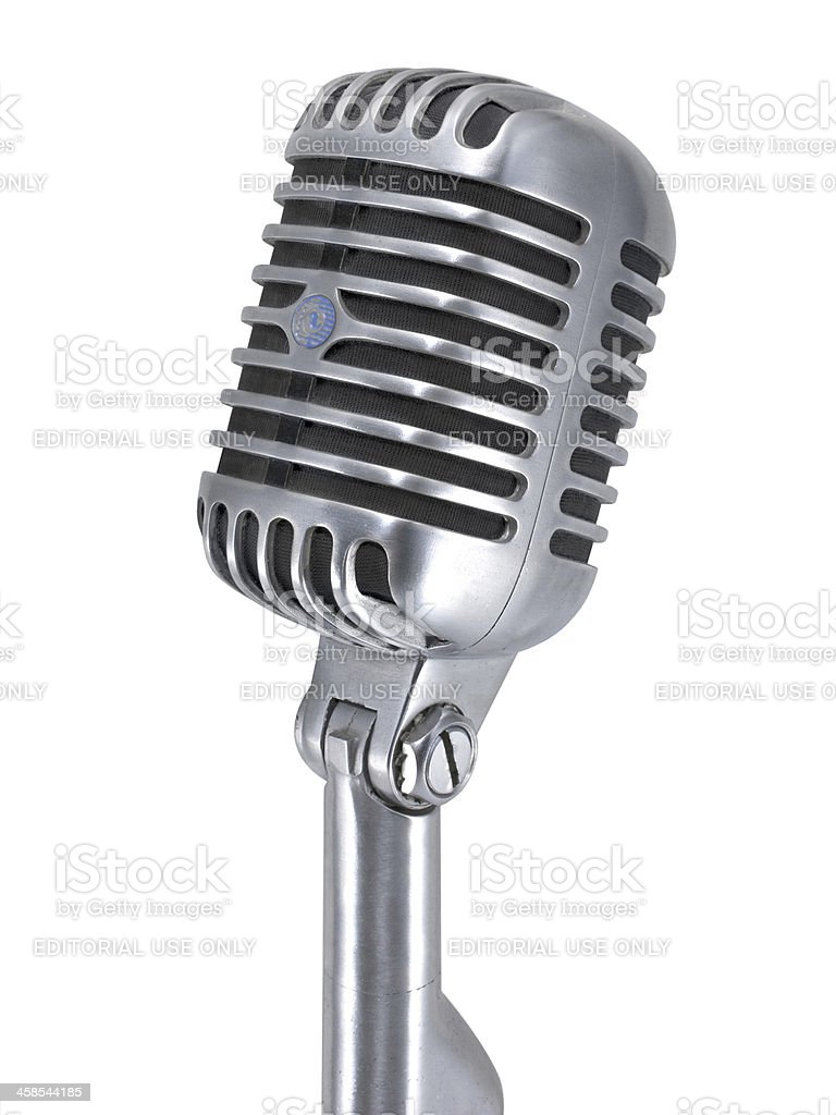 Shure Microphone royalty-free stock photo