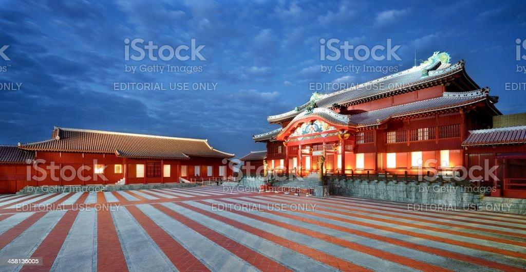 Shuri Castle in Okinawa stock photo