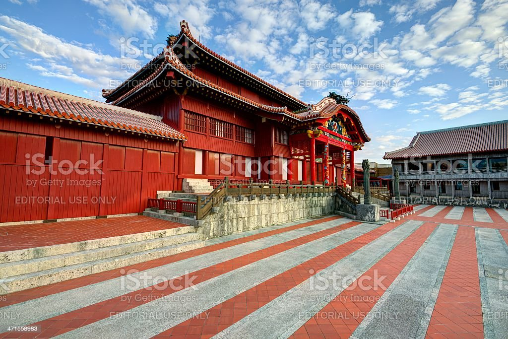 Shuri Castle stock photo