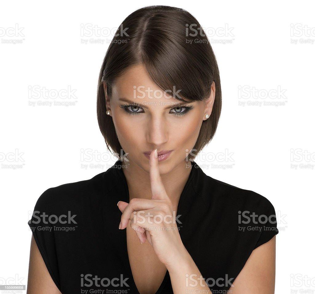 Shush! stock photo