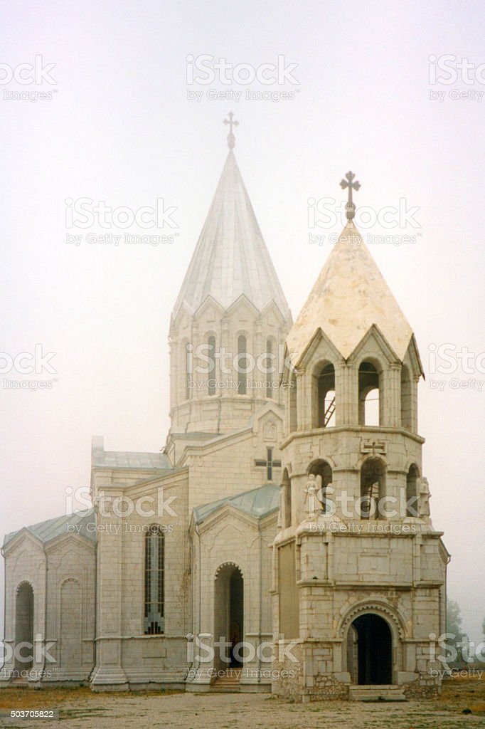 Shusha Cathedral, Nagorno Karabakh stock photo