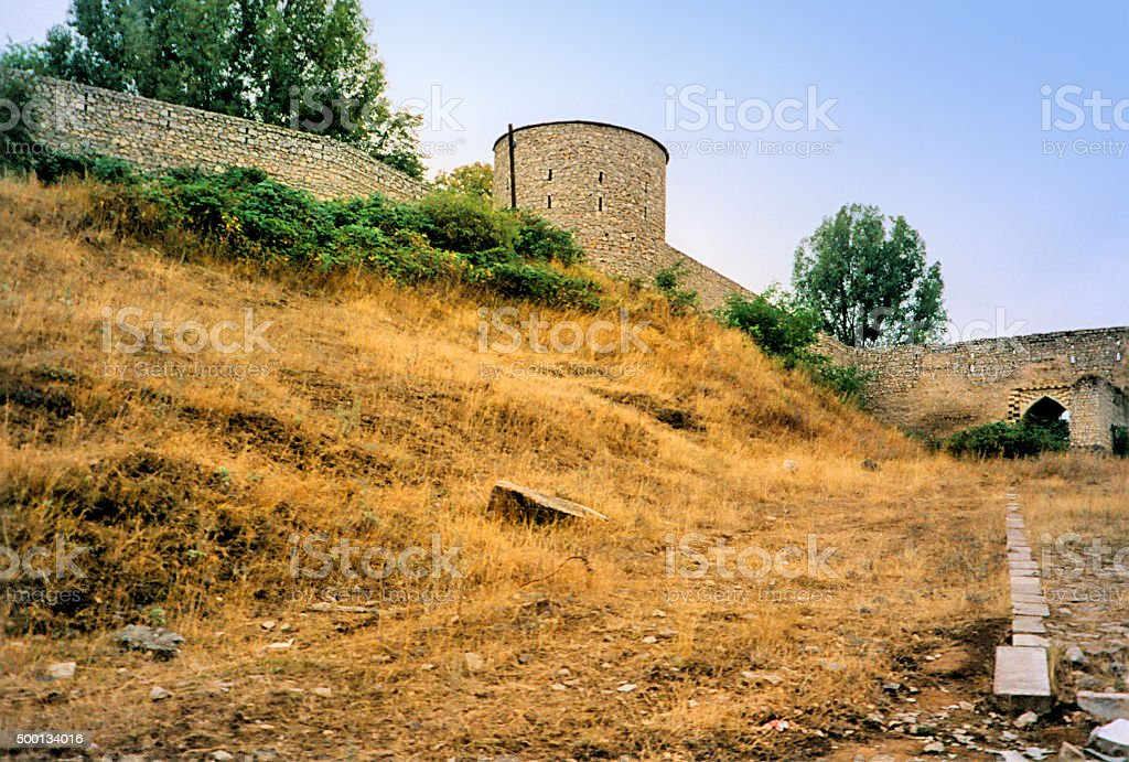 Shusha, Nagorno Karabakh: defensive walls stock photo