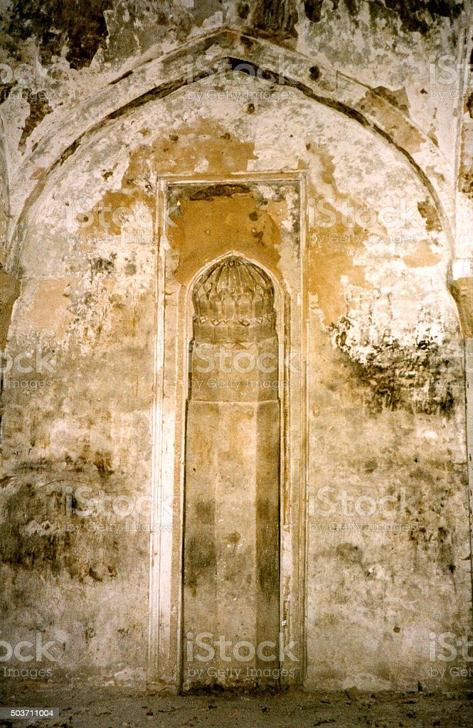Shusha's main Mosque, Nagorno Karabakh - mihrab stock photo
