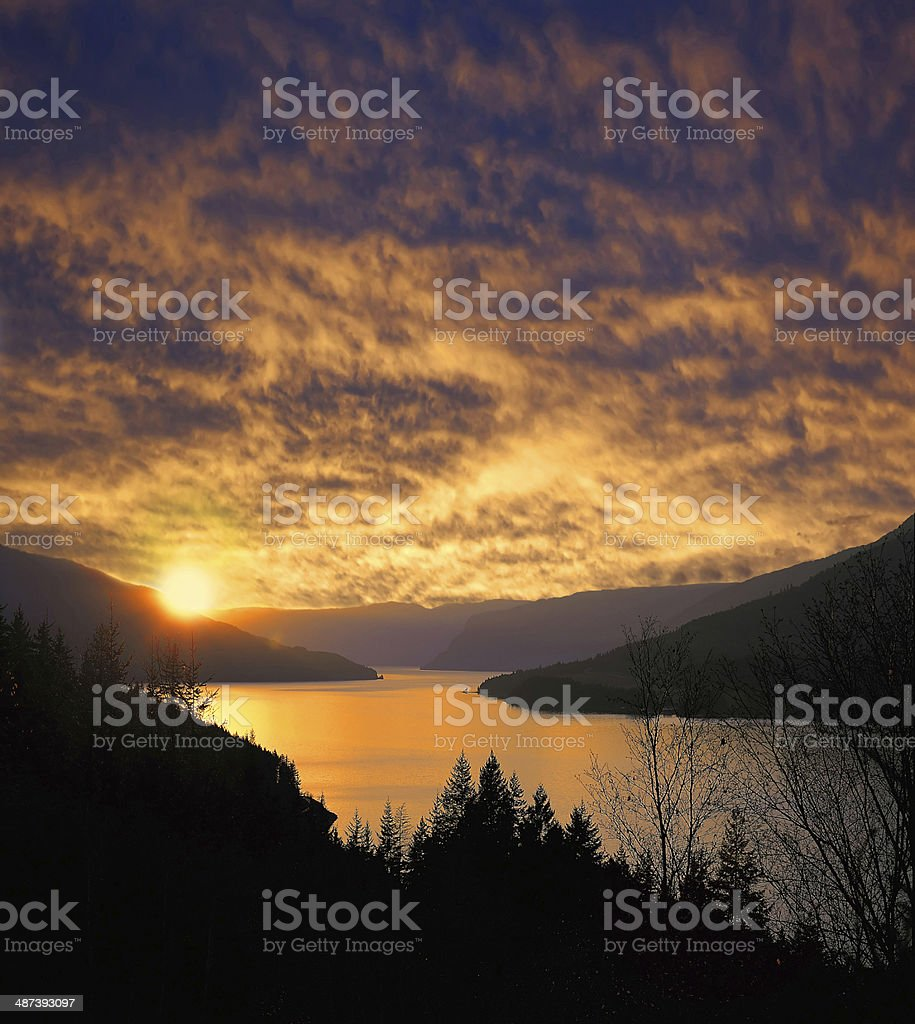 Shuswap Lake royalty-free stock photo