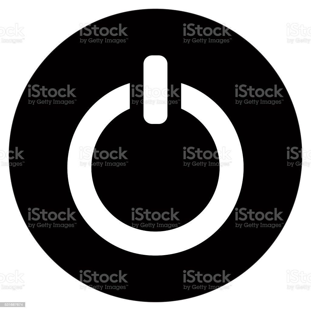 Shut down icon stock photo