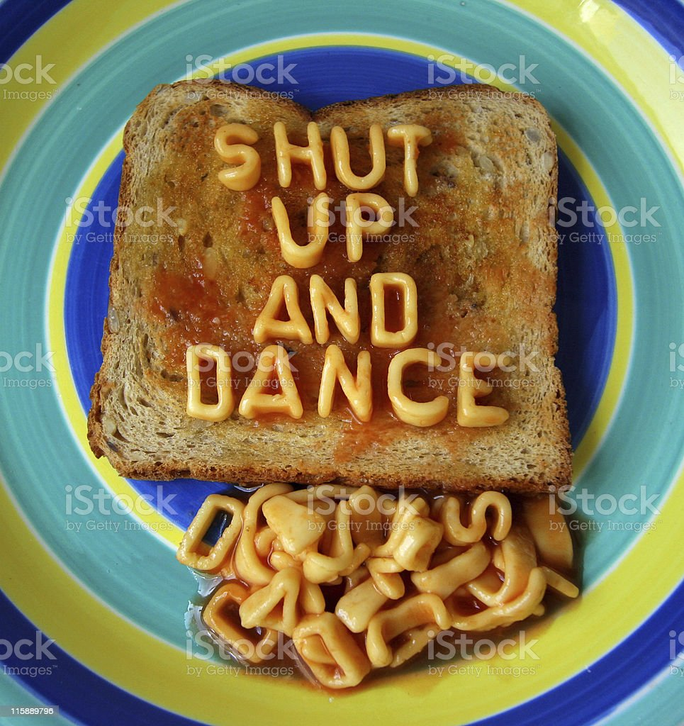shut up and dance royalty-free stock photo