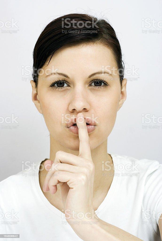Shut up! royalty-free stock photo