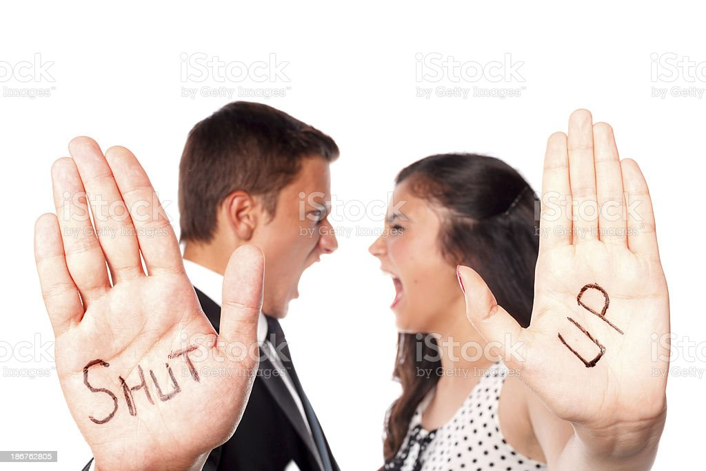 Shut Up royalty-free stock photo