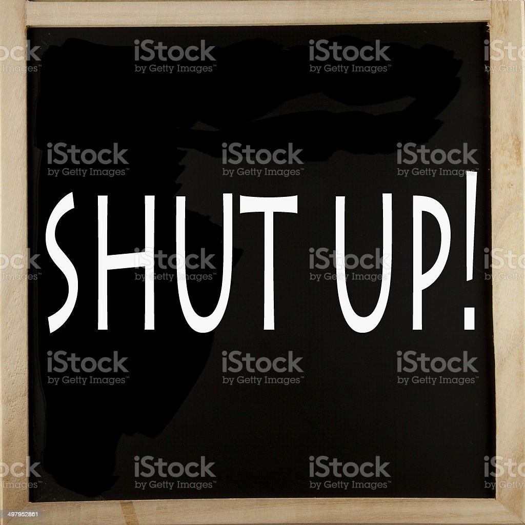 Shut up stock photo