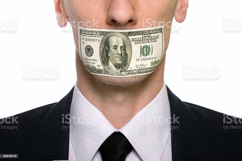shut up royalty-free stock photo